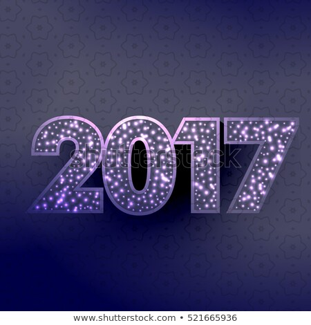 stylish 2017 happy new year text written with glowing sparkle ci Stock photo © SArts