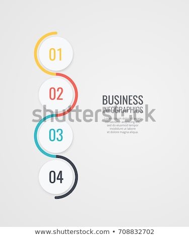 four steps options infographic template for business presentatio Stock photo © SArts