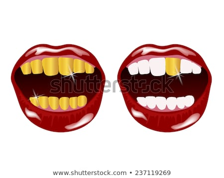 beautiful golden tooth illustration stock photo © tefi