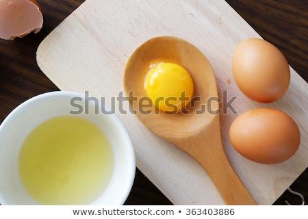 Friss tojás fehér tojássárgája tál Stock fotó © Digifoodstock
