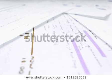 Grammar Handwriting With Blue Marker Stock photo © ivelin