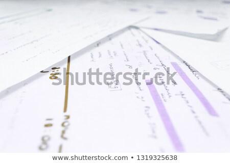 bleu · marqueur · main · écrit · transparent - photo stock © ivelin