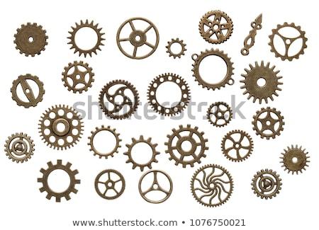 Vieux lourd Cog roue industrielle technologie Photo stock © mmarcol