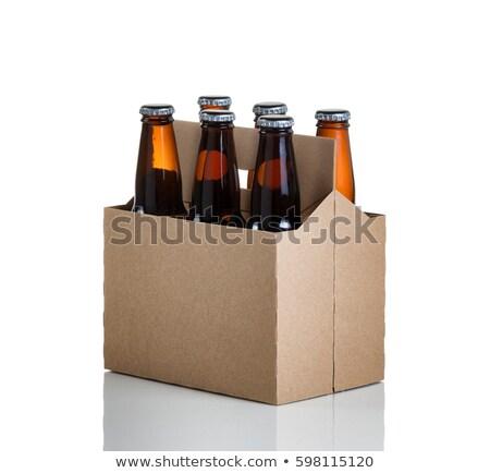 seis · garrafas · verde · isolado · branco · aniversário - foto stock © tab62