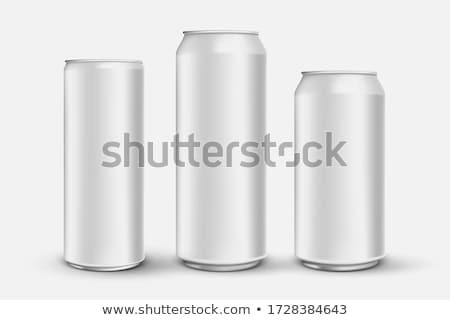 Valósághű energiaital konzerv vázlat design sablon háló Stock fotó © SArts