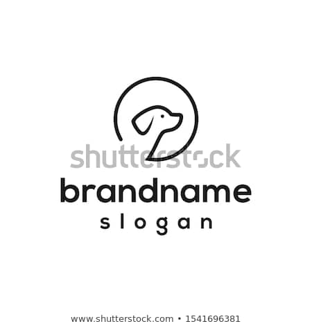 Logo of Smiling Baby Playing with Pet Dog Silhouette, Minimalist Vector Element Stock photo © Loud-Mango