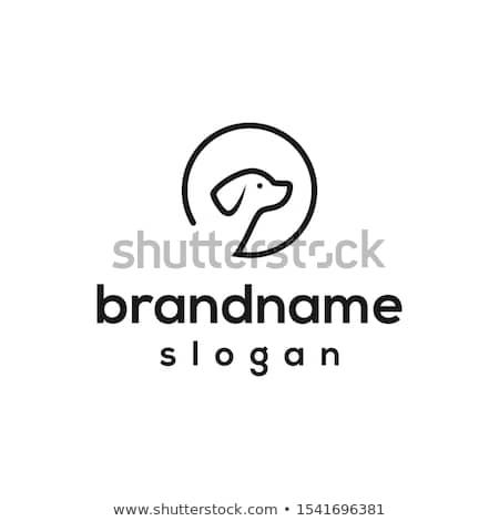 logo · gülen · bebek · oynama · evcil · hayvan · köpek - stok fotoğraf © Loud-Mango