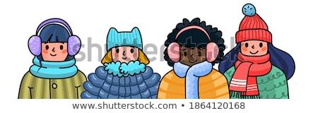 Vector Cartoon Style Illustration Of Mittens With Title Warm Wi Vector Illustration C Tetiana Kozachok Curiosity 8246810 Stockfresh