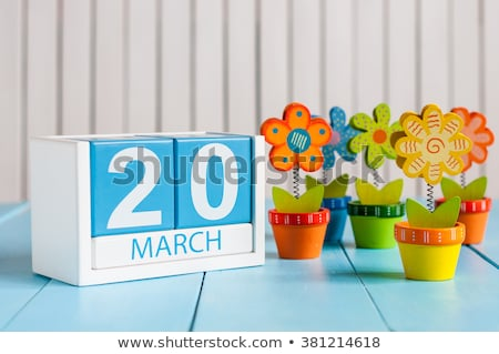 Cubes 20th March Stock photo © Oakozhan