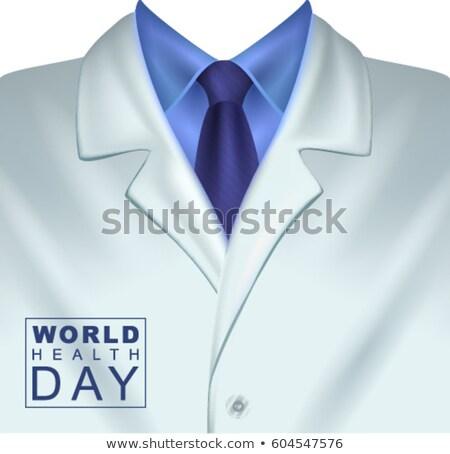 świat zdrowia dzień biały lekarzy płaszcz Zdjęcia stock © orensila