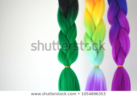Braid of Artificial Hair Isolated on White. Stock photo © courtyardpix