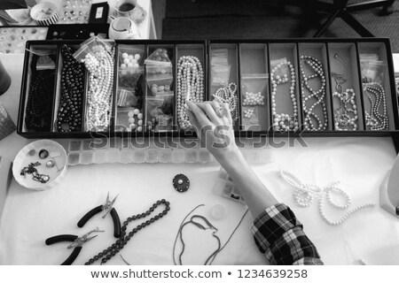 ハンドメイド · 工芸 · ワークショップ · 黒白 · 芸術 · 公正 - ストックフォト © Olena