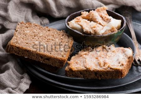 Disznóhús kövér ropogós tányér kerámia senki Stock fotó © Digifoodstock