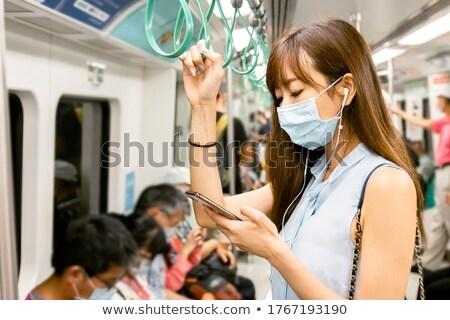 Hand mobiele telefoon trein man naar smartphone Stockfoto © stevanovicigor