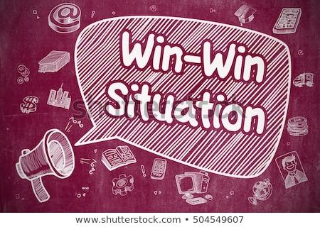 Situatie doodle illustratie Rood schoolbord business Stockfoto © tashatuvango
