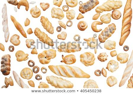 Zoute krakeling brood geïsoleerd witte helling Stockfoto © LoopAll