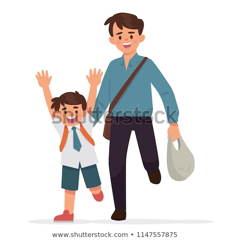 dad and son going to work and to school Stock photo © IS2