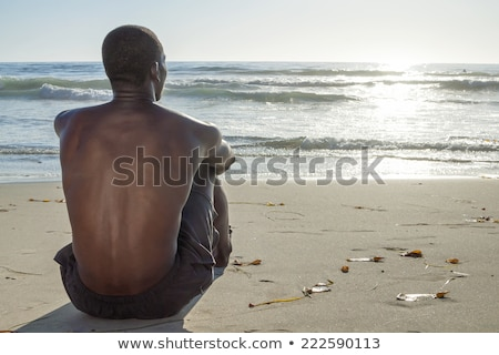 man leaning out observing Stock photo © IS2