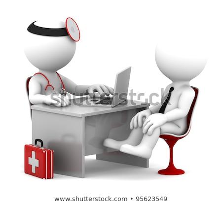 Diagnosi trattamento medici illustrazione 3d medicina blu Foto d'archivio © tashatuvango