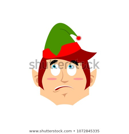 Natal elfo surpreendido ajudante emoção Foto stock © popaukropa