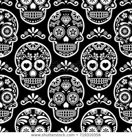 dzień · martwych · czaszki · sztuki · mexican - zdjęcia stock © redkoala