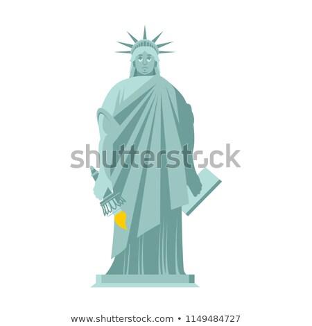Posąg wolności smutne punkt orientacyjny Ameryki rzeźba Zdjęcia stock © popaukropa