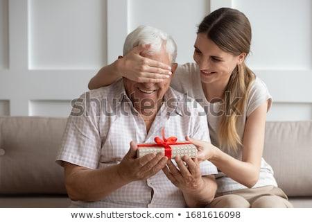 деда внучка ждет девушки портрет улыбаясь Сток-фото © IS2