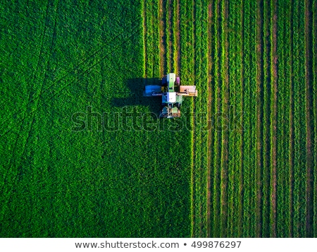Aerial view of agricultural tractor in the field Stock photo © stevanovicigor