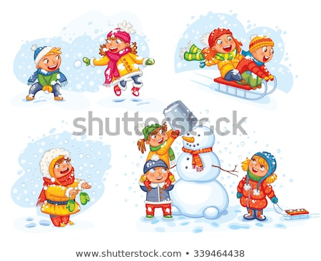 Girl trying to catch snowflakes Stock photo © IS2