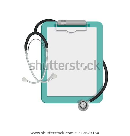 doctor with clipboard vector illustration stock photo © rastudio
