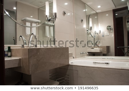 Bathroom with ornate tub and mirror Stock photo © IS2