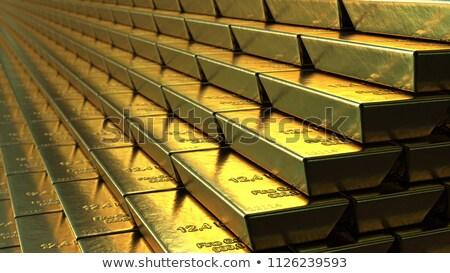 золото баров 3d иллюстрации свет Лучи Сток-фото © tracer