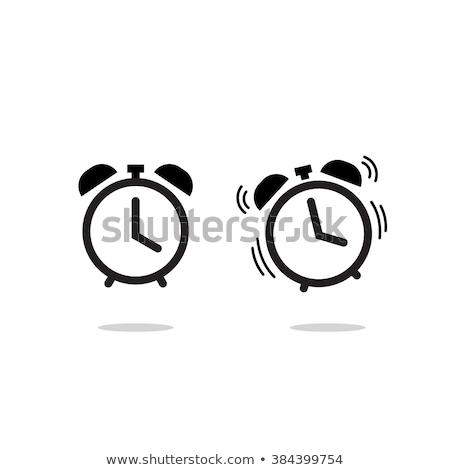 Foto d'archivio: Sveglia · vettore · icona · design · colore · bianco · nero