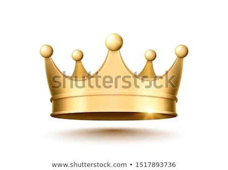 царя королевский корона изолированный белый Сток-фото © konturvid