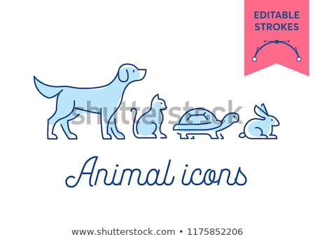 en · iyi · hayvan · logo · ayarlamak · toplama · beyaz - stok fotoğraf © krustovin
