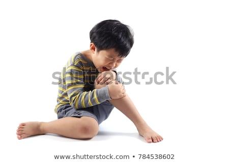Humanismo pernas contusão branco ilustração homem Foto stock © bluering
