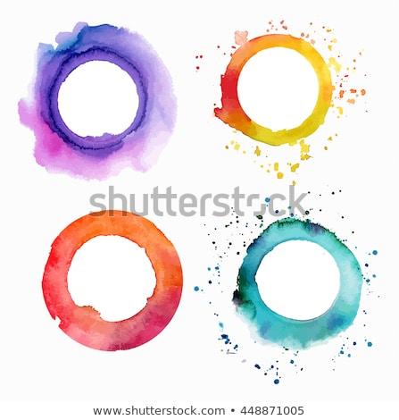 żółty akwarela pędzlem kopia przestrzeń tekstury strony Zdjęcia stock © SArts