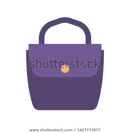 Blue Female Practical Handbag with Golden Clasp Stock photo © robuart