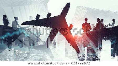 Légi közlekedés vegyes média üzlet repülőtér elmosódott Stock fotó © alexaldo