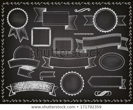 Szett vektor tábla címkék címkék fehér Stock fotó © Pravokrugulnik