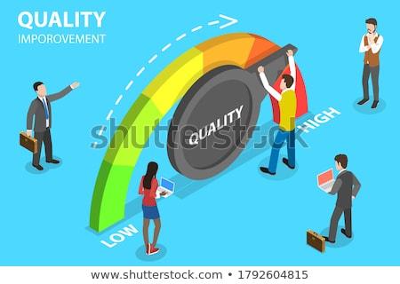 Negócio excelência isométrica serviço alvo gestão Foto stock © TarikVision