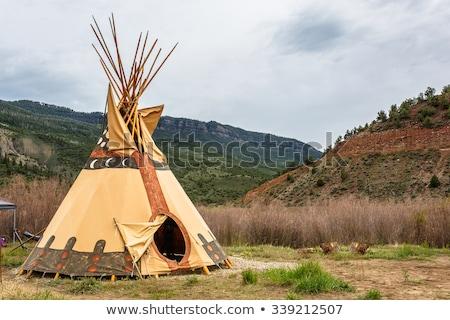 American indians at campsite Stock photo © colematt