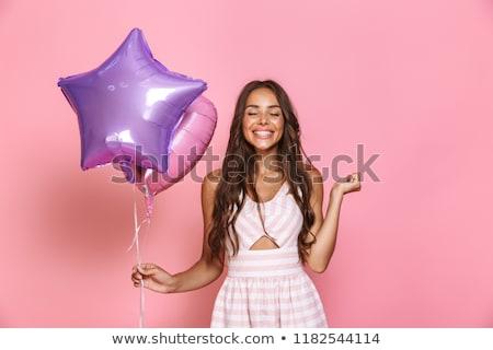 Foto kaukasisch vrouw 20s jurk Stockfoto © deandrobot