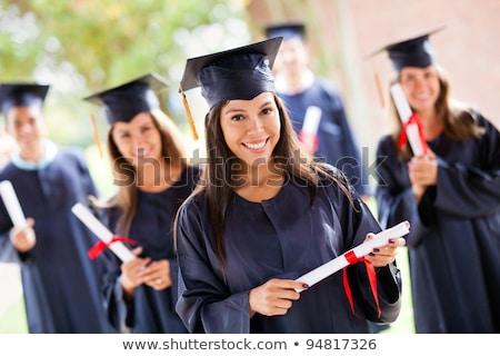 latino · mannelijke · afstuderen · cap · toga - stockfoto © feverpitch
