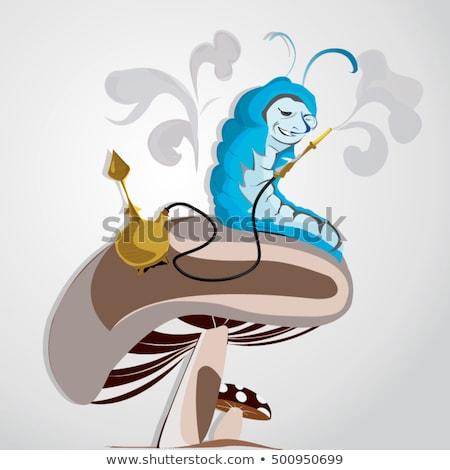 Mundo maravilloso carácter anunciante azul oruga sesión Foto stock © jossdiim