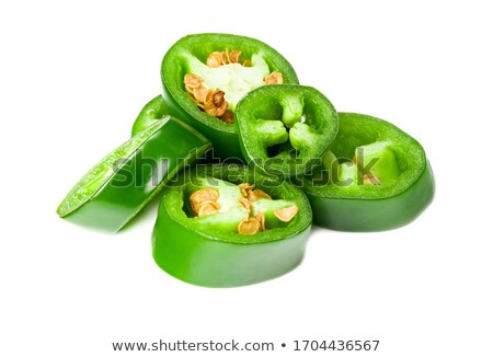 Całość posiekane zielone Chile papryka Zdjęcia stock © maxsol7