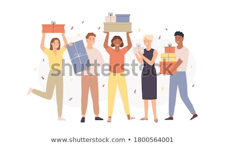 funny girl in present box stock photo © massonforstock