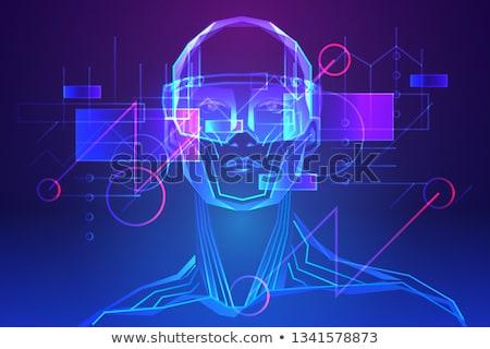 интерактивный реальность плакат текста образец человека Сток-фото © robuart