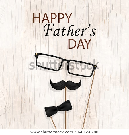 Happy Father s Day Vector. Greeting Card Design. Black Bow Tie. Realistic Illustration Stock photo © pikepicture
