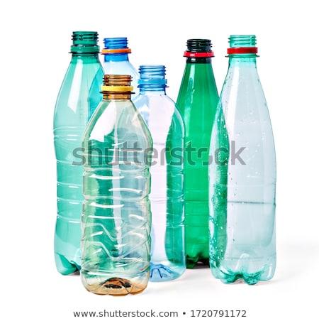 dois · plástico · garrafas · isolado · branco · corpo - foto stock © make